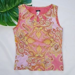 J. Crew Sleeveless 100% Cotton Top EUC!